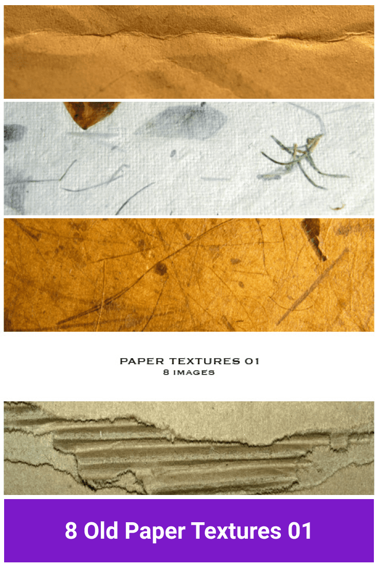 Paper with an aged and worn effect.