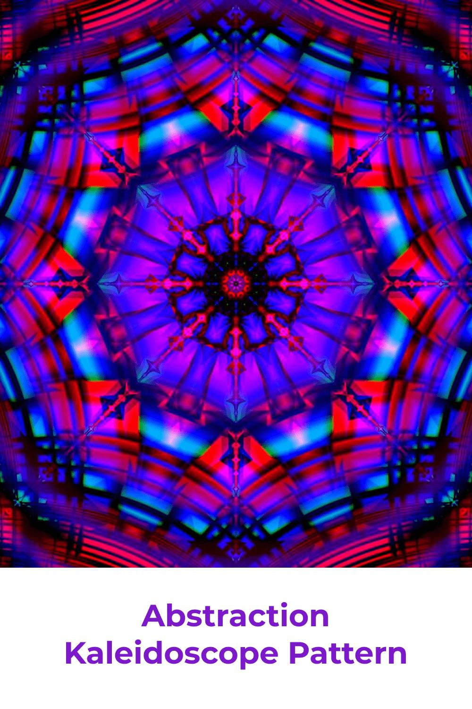 Abstraction kaleidoscope print.