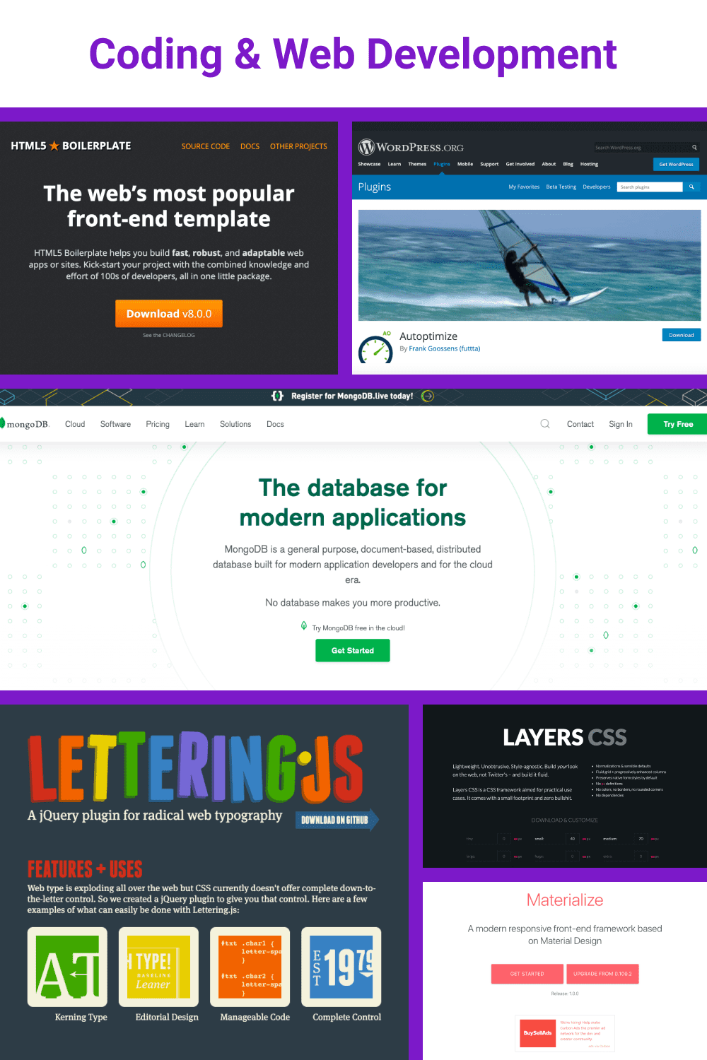 Tools for coding and programming.