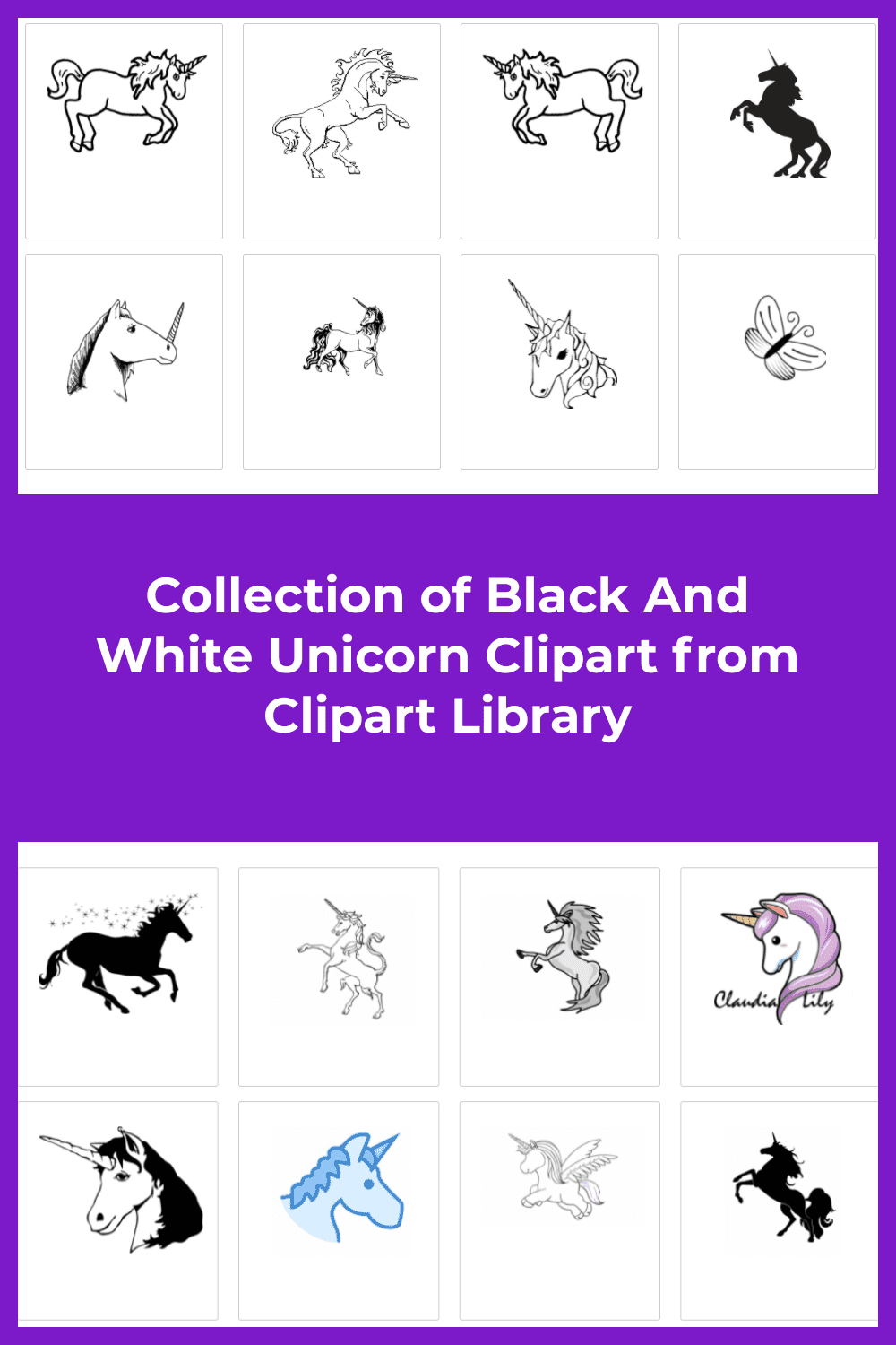 A big collection of diverse unicorns.