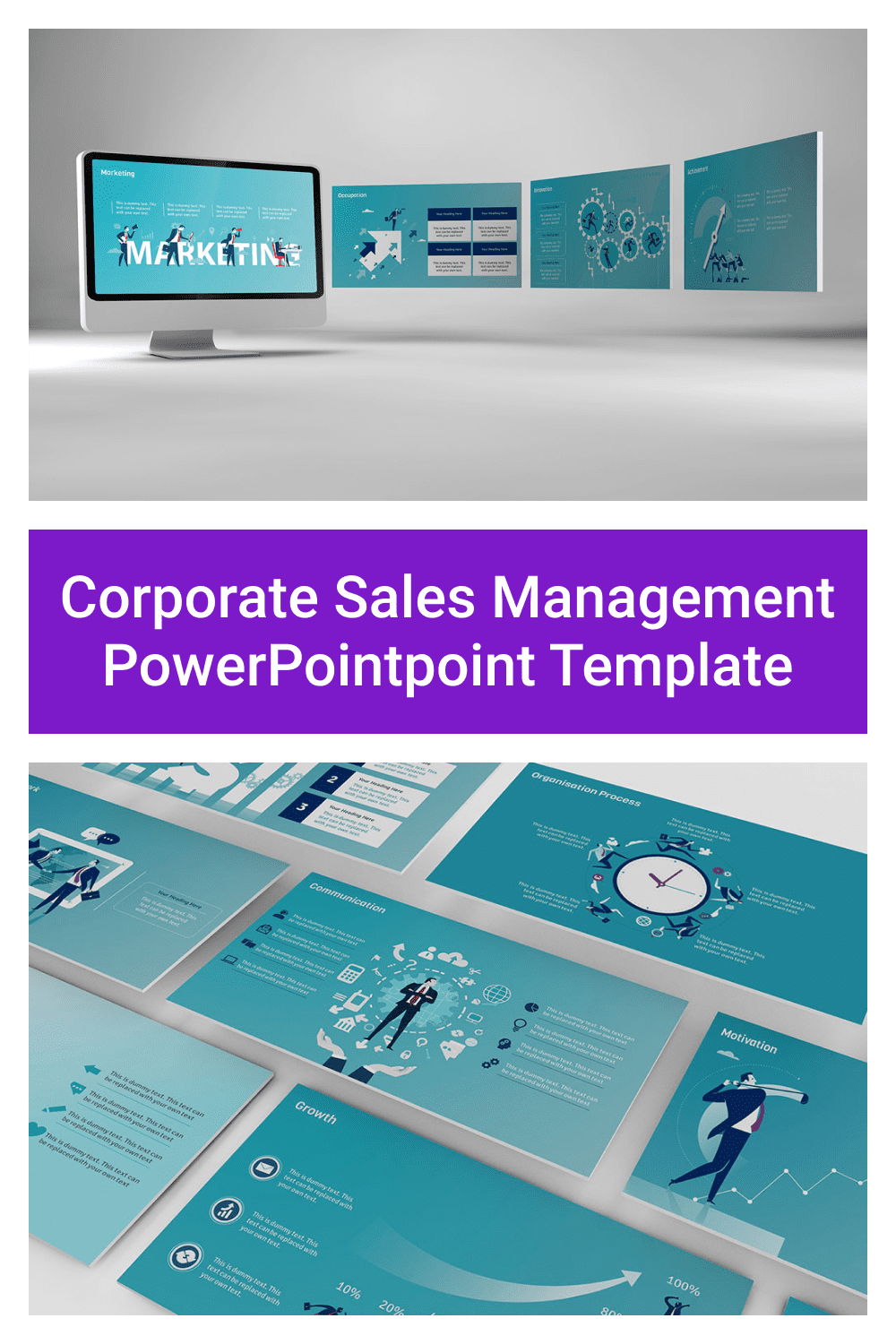 Corporate Sales Management PowerPoint Template.