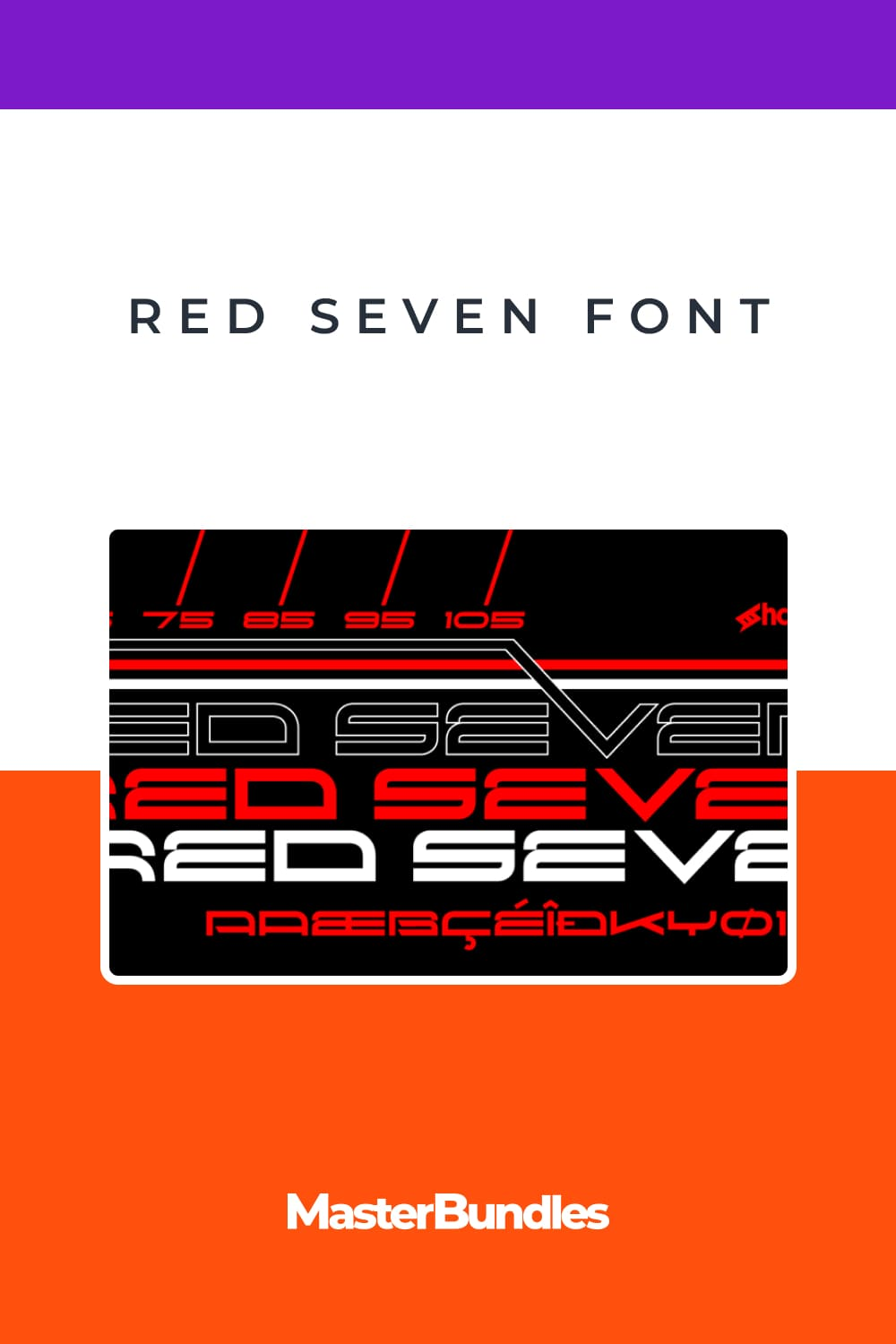 Red Seven is an edgy, futuristic display font that lends itself to lettering, titles, and logos.