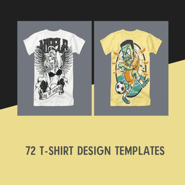 72 T Shirt Design Templates.