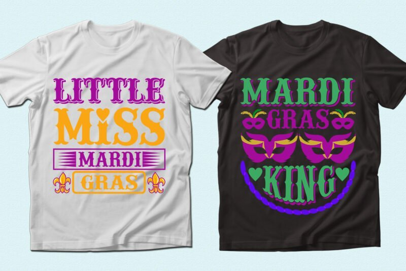 Two T-shirts with original font and high-quality graphics.