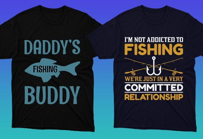 These are simple and stylish T-shirts for fishing enthusiasts.