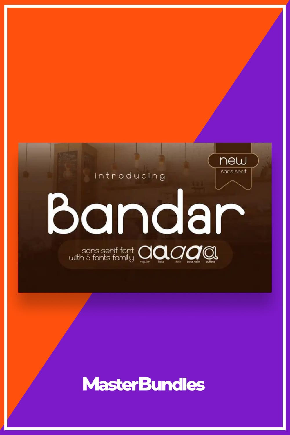 Bandar works well in any graphic design project and purpose both as a display typeface and in smaller sizes.