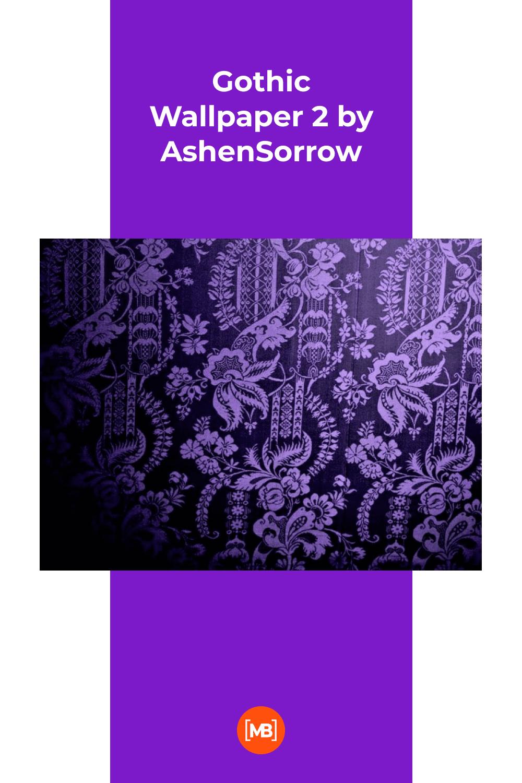 Purple gothic style.