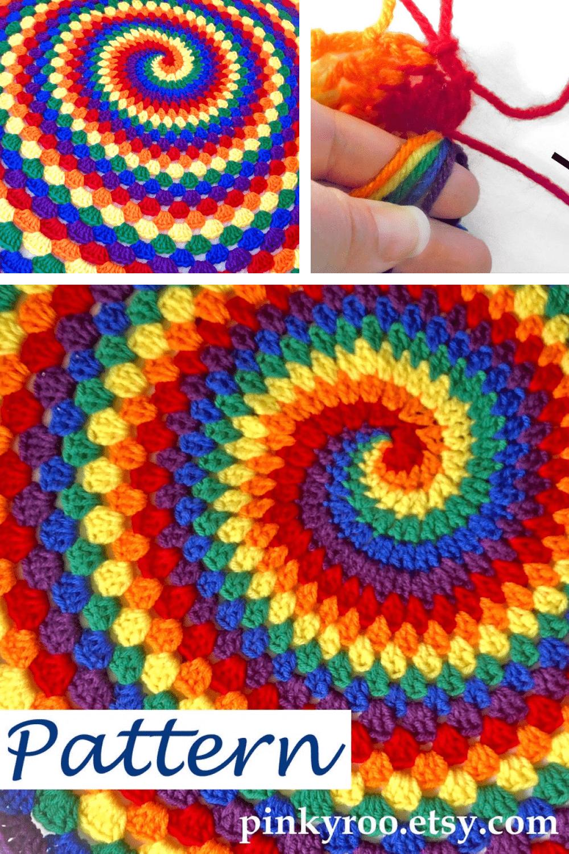Pattern for Rainbow Spiral.