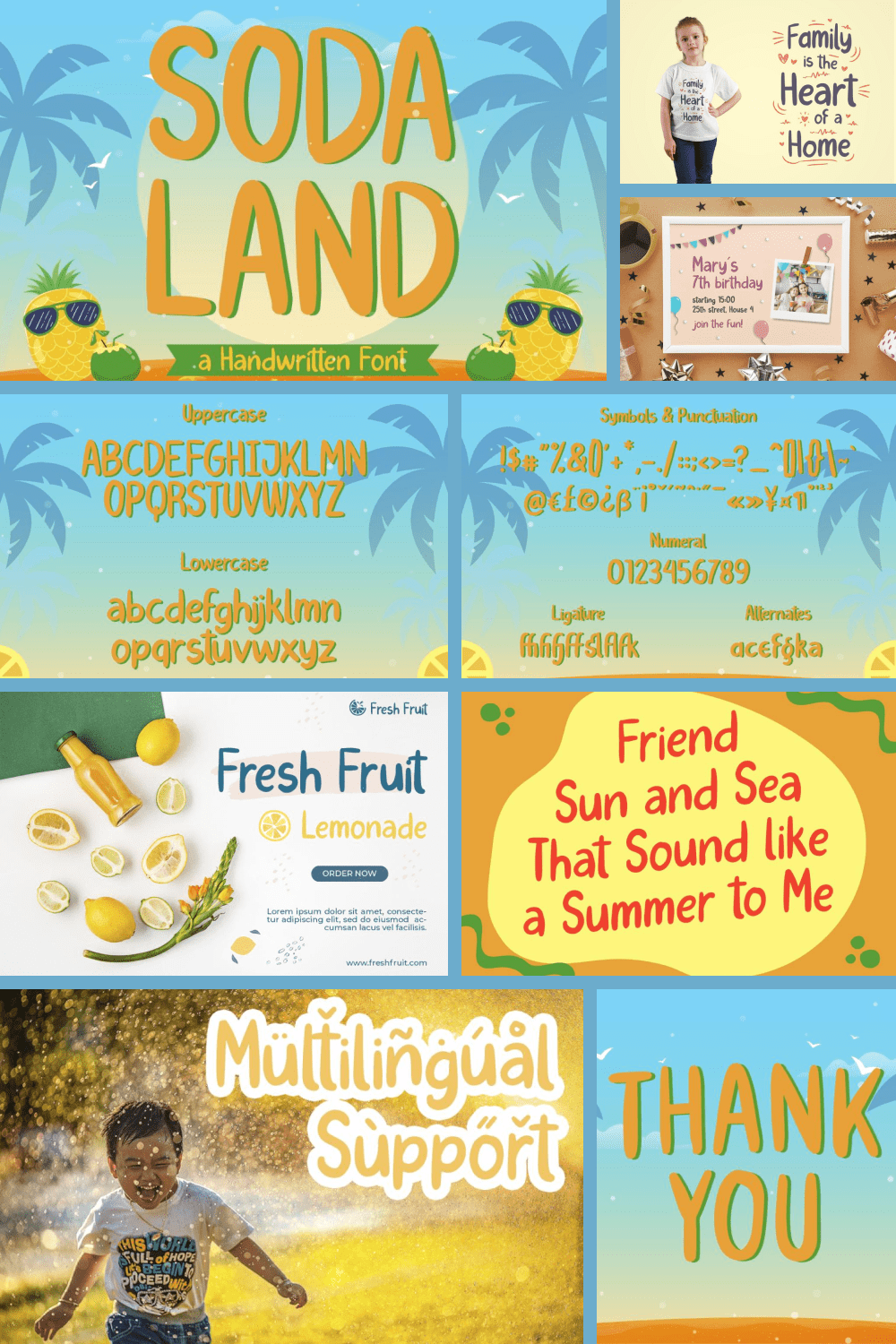 Soda Land is a fancy font that will bring playful feel to your designs.