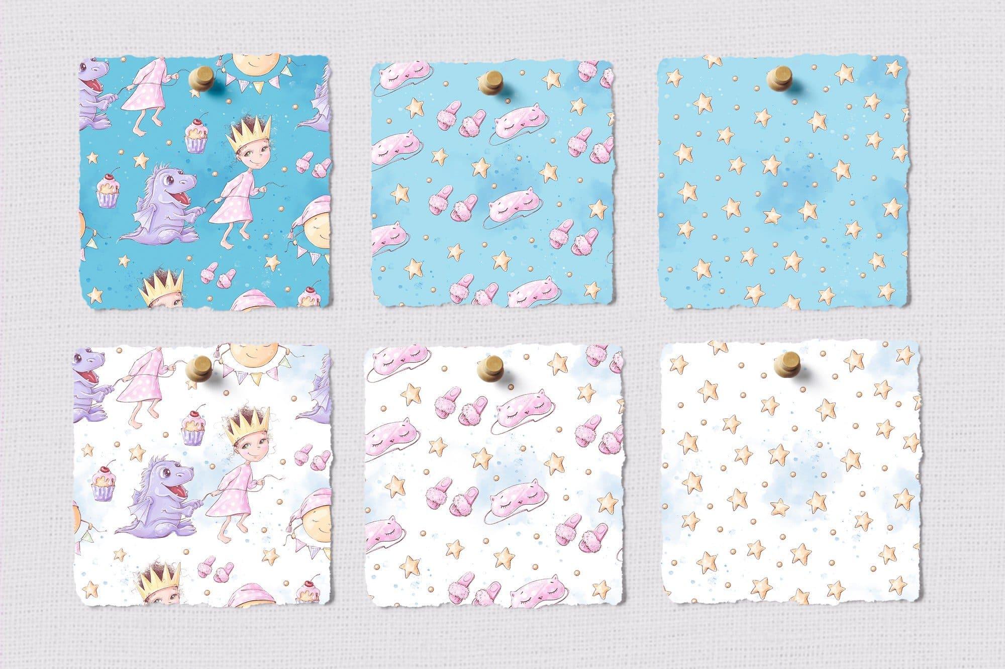 Different fabrics for pajama creating.
