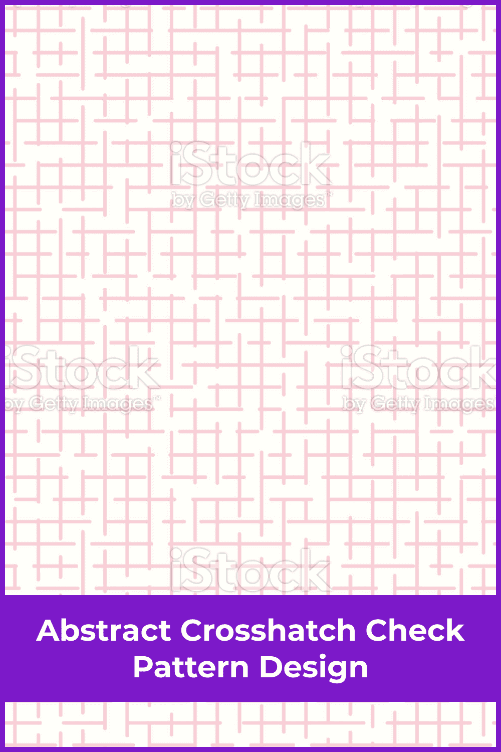 Abstract Crosshatch Check Pattern Design.