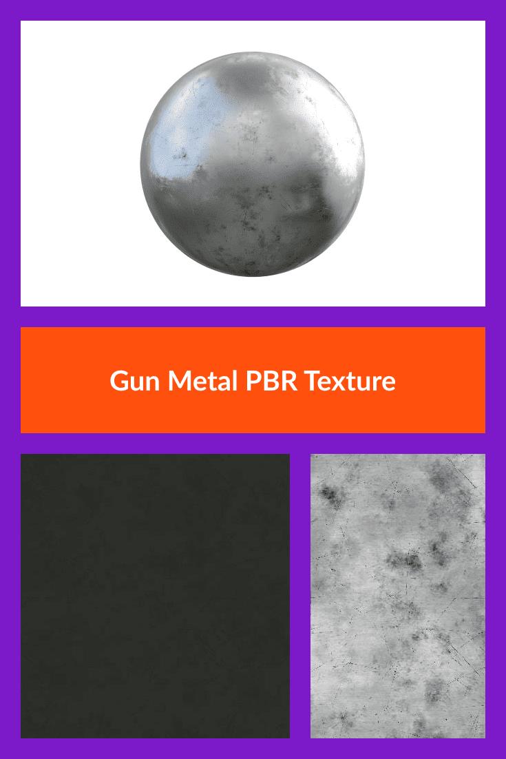 Gun Metal PBR Texture.