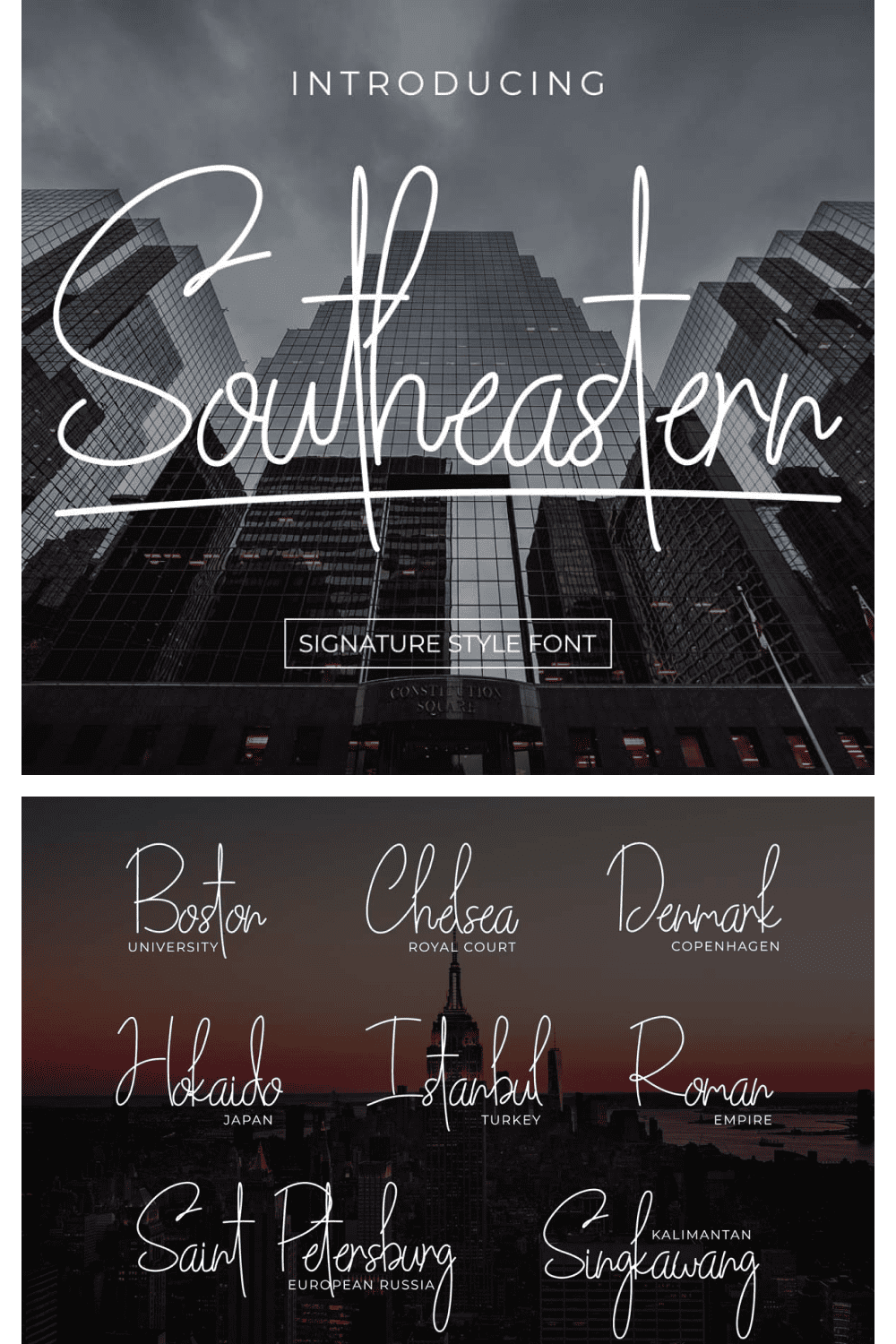 Southeastern is the prime released font, it is handwritten signature style font which is good for using branding, invitation card, business card, product packaging, stationery, social media post, watermark.