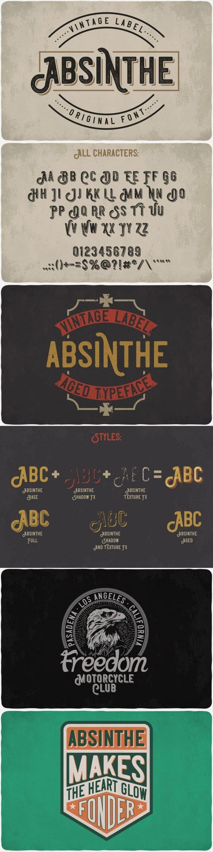 Absinthe Font for pinterest.