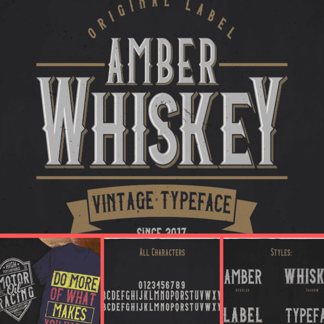 Amber Whiskey Typeface cover image.