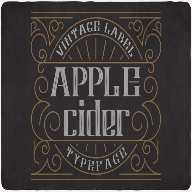 Apple Cide Font main cover.