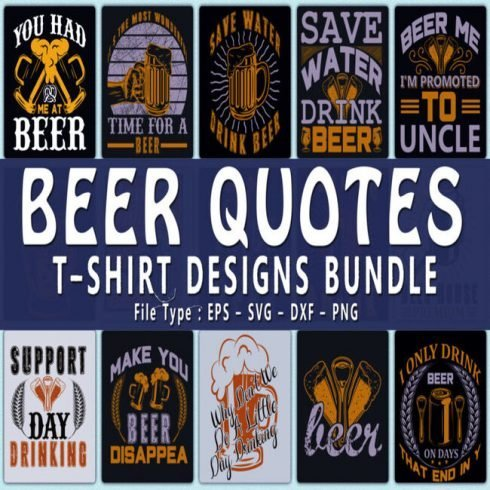 Beer Quotes T shirt Designs main cover.