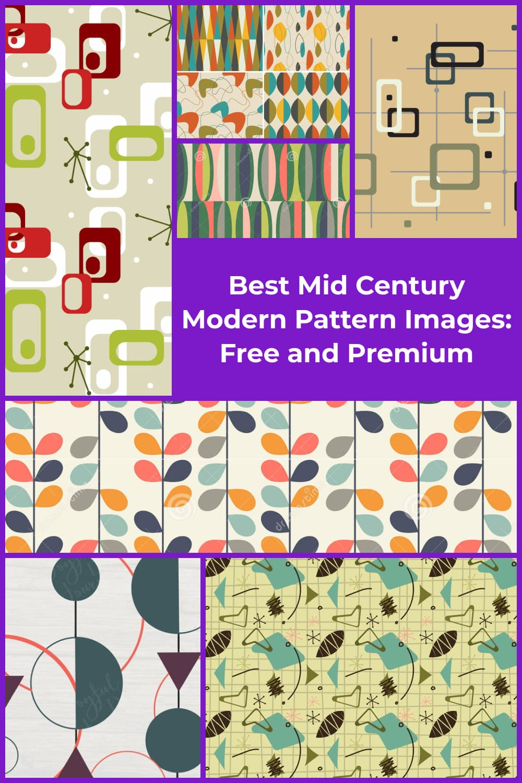 Mid Century Modern Pattern  Pinterest.