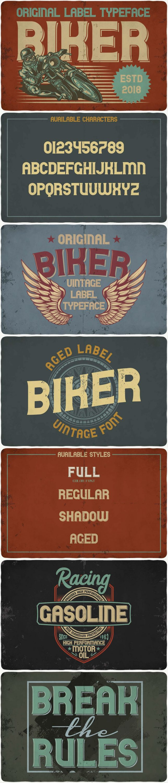 Biker font: biker typeface for pinterest.