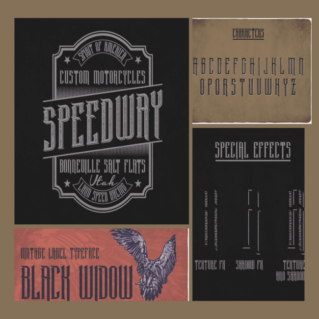 Black Widow Typeface cover image.