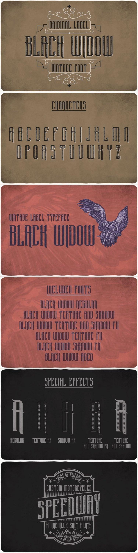 BlackWidow typeface for pinterest.