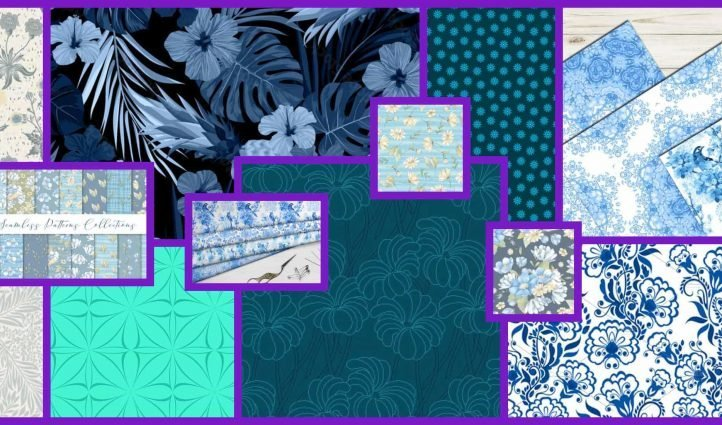 Blue Floral Pattern Example.