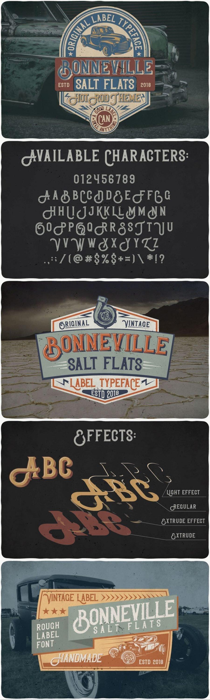Bonneville font for pinterest.