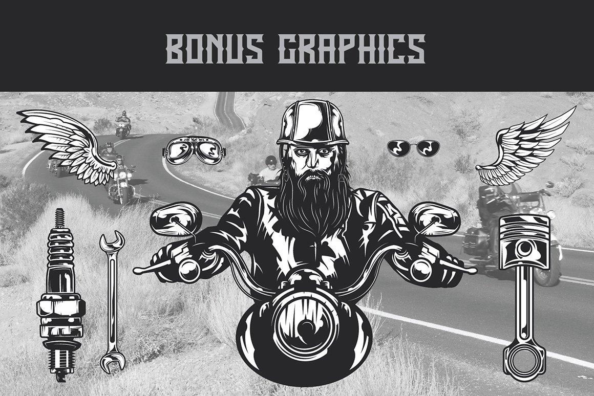 Bonus graphics in Born Free Typeface.
