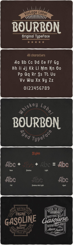 Bourbon Typeface for pinterest.