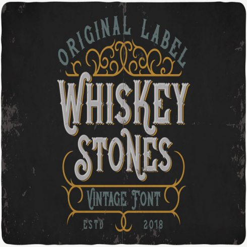Whiskey Stones Typeface main cover.
