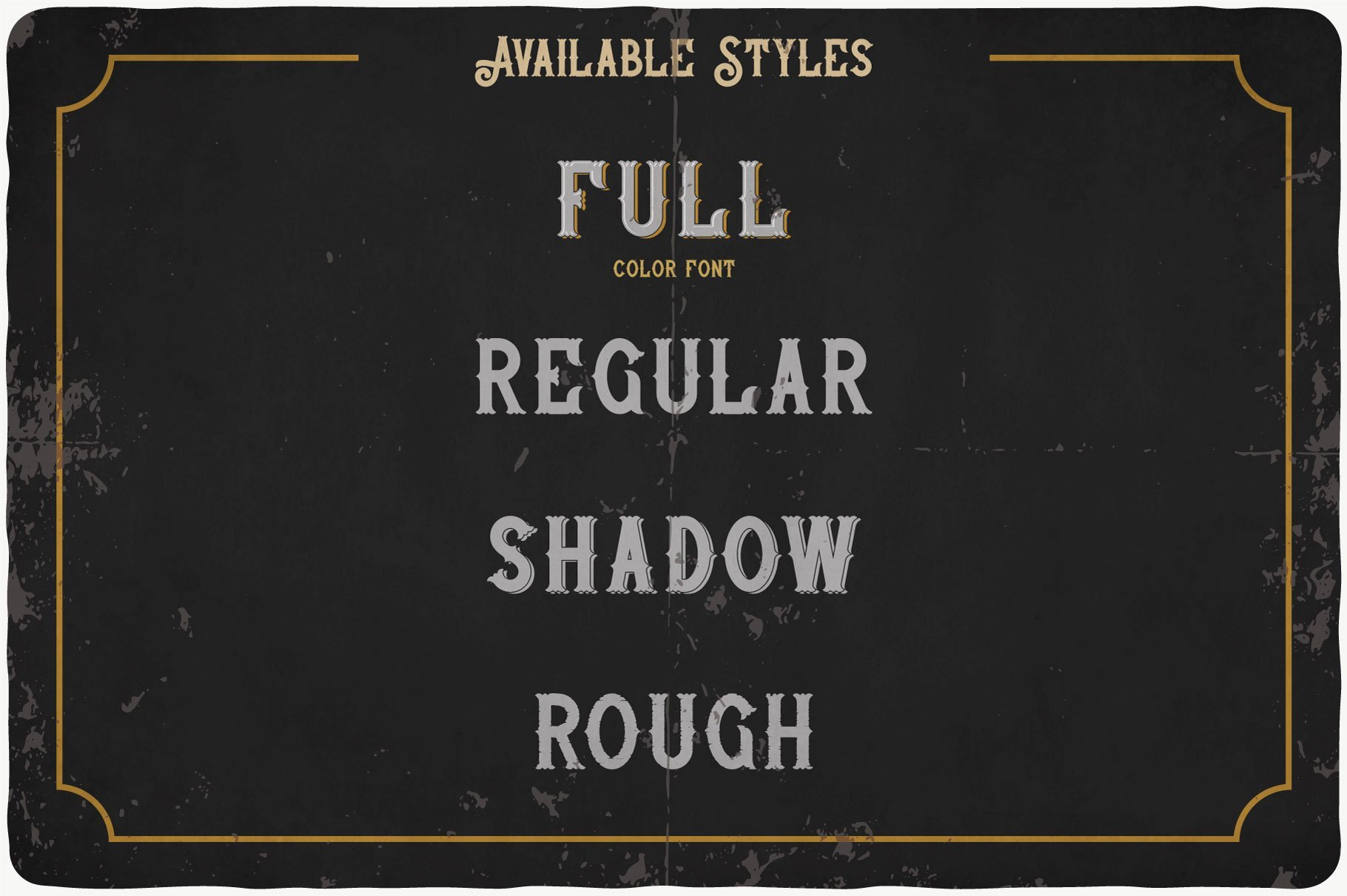 Whiskey Stones Typeface available styles.