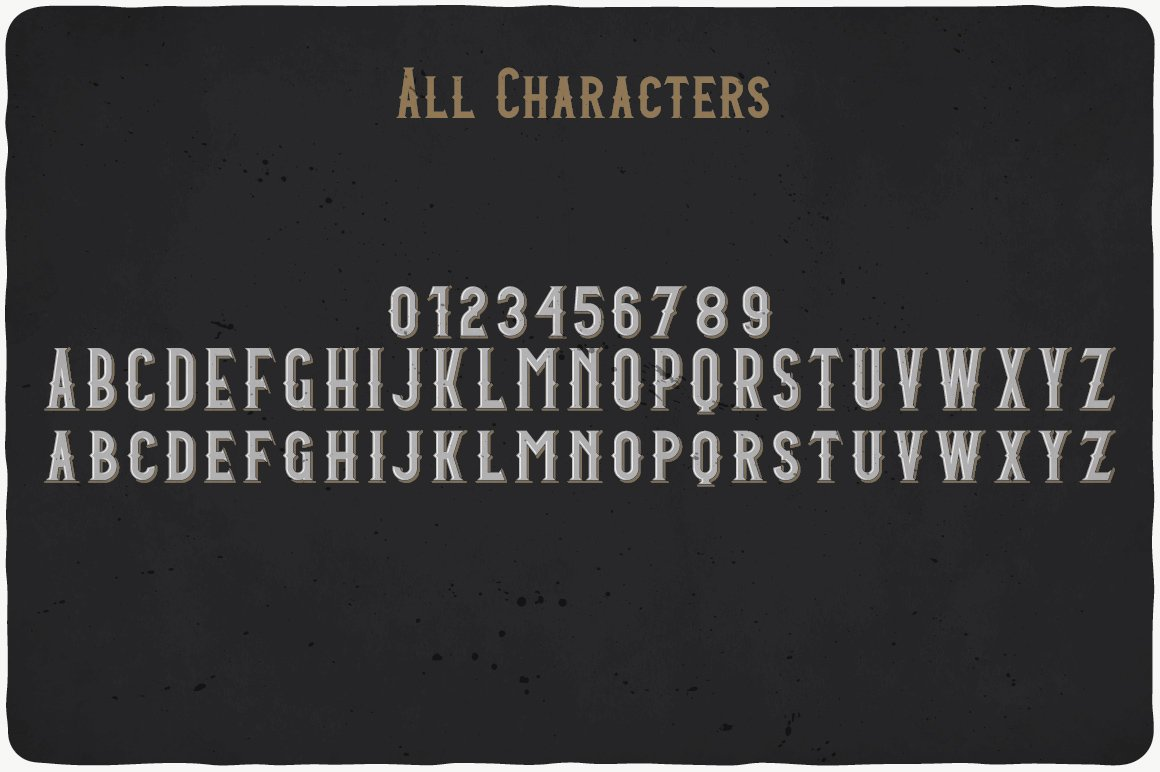 Available characters of Amber Whiskey Font.