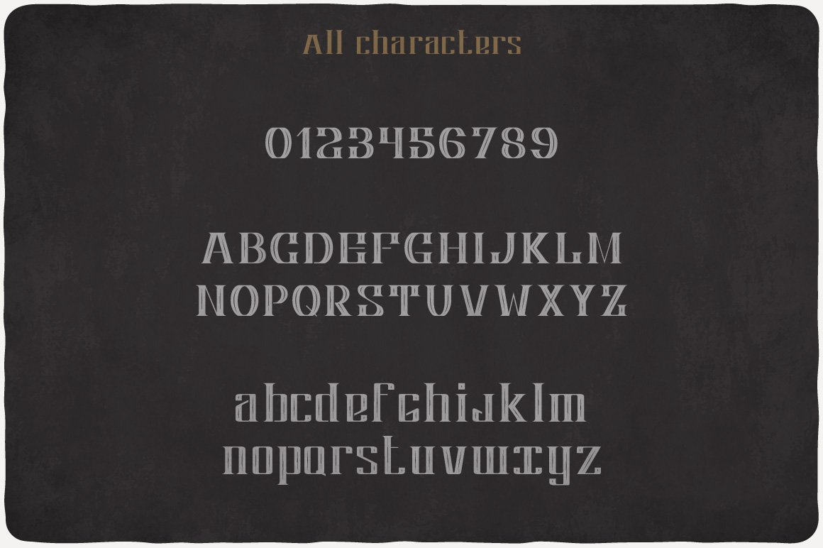 Available characters of Apple Cider Typeface.