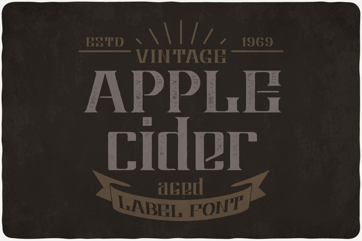 Vintage font with crown.