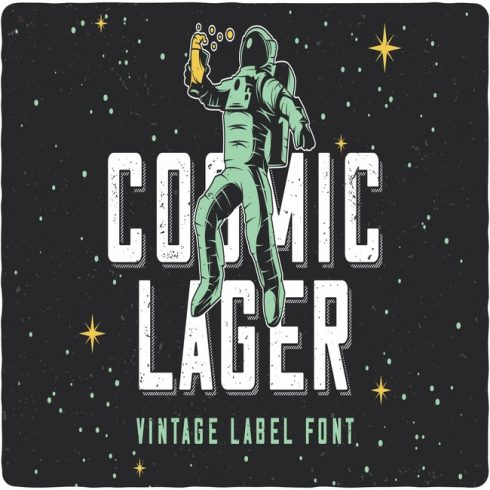 Cosmic Lage Font main cover.