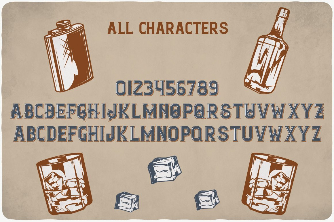All characters of Ginger Gin Typeface.