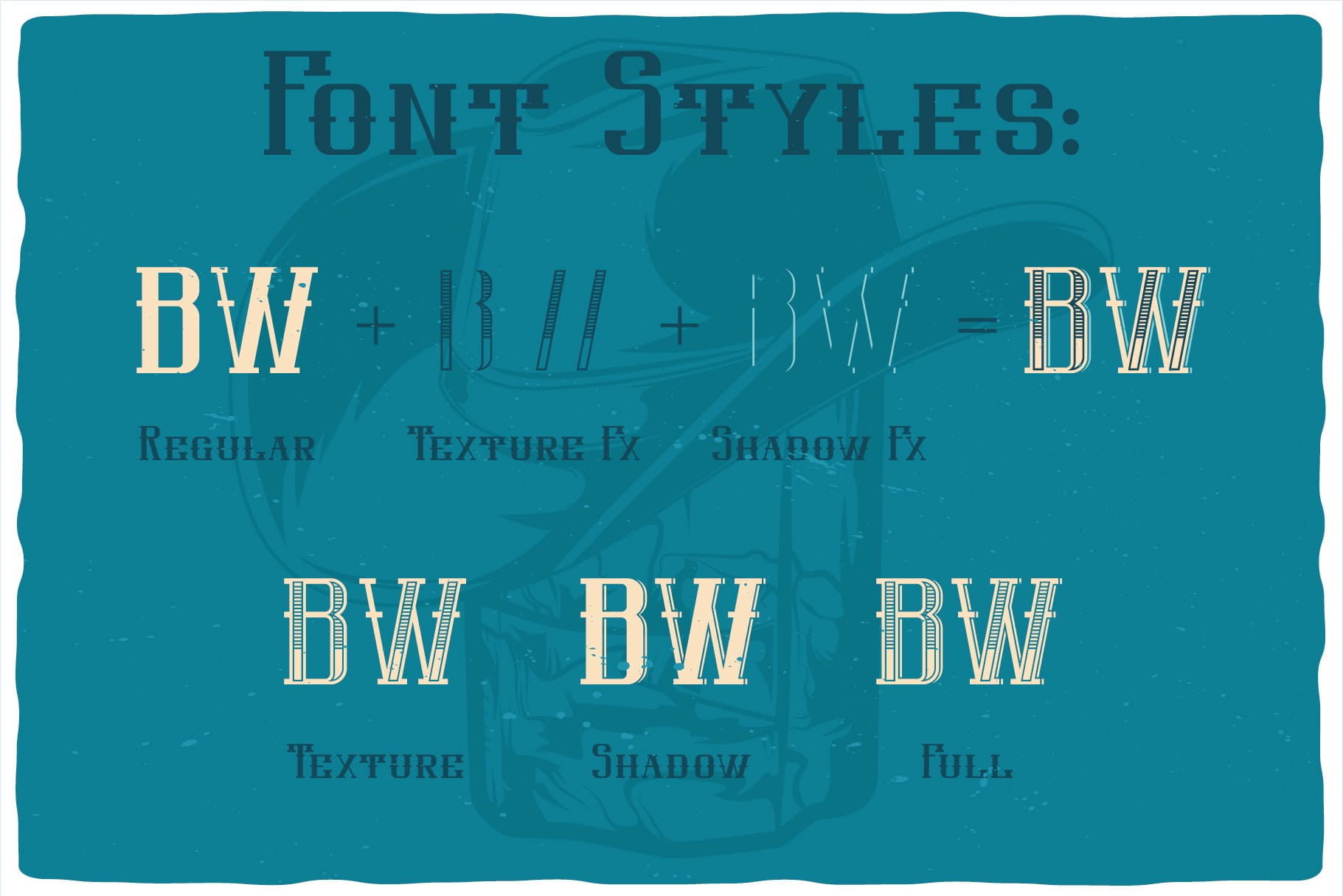 Styles of Western Whiskey Font.