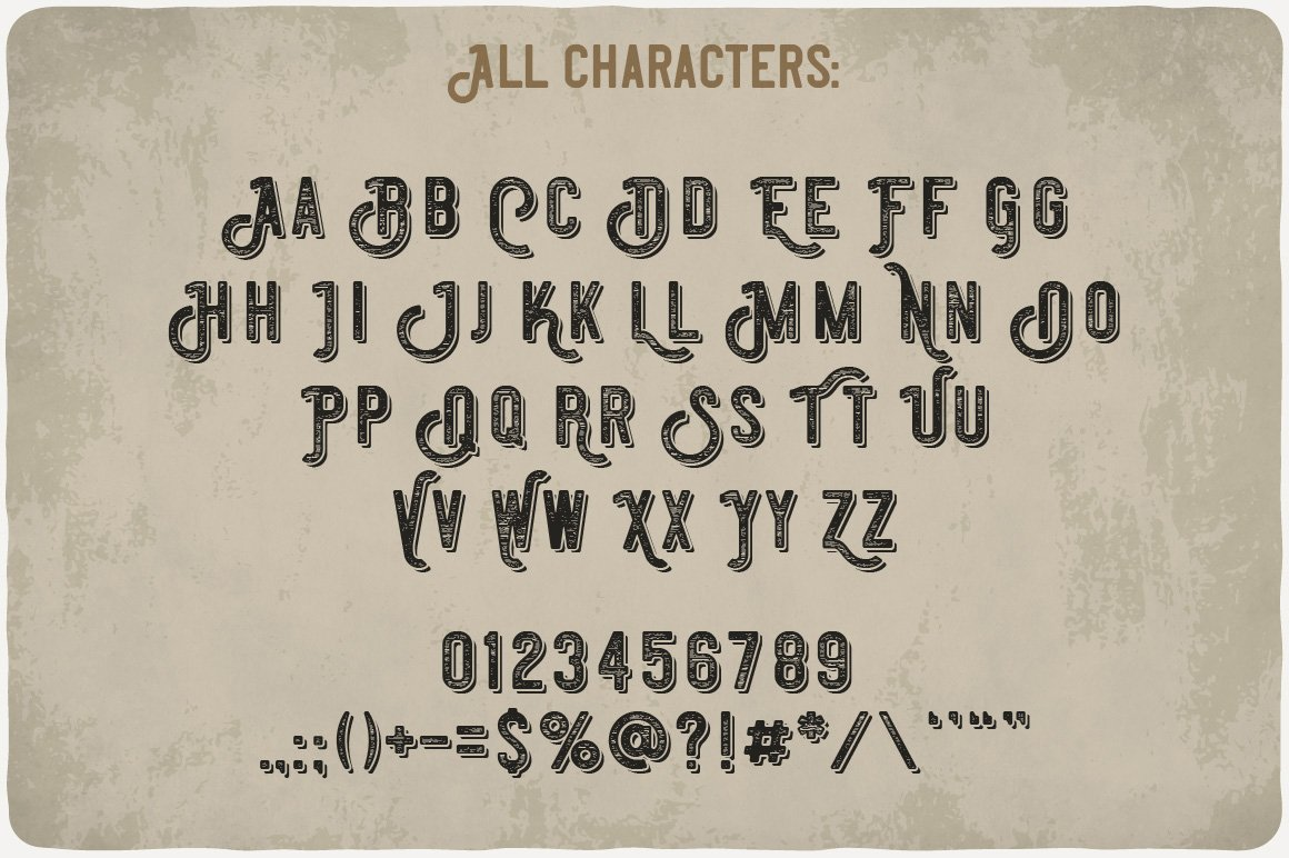 Available characters of Absinthe Font.