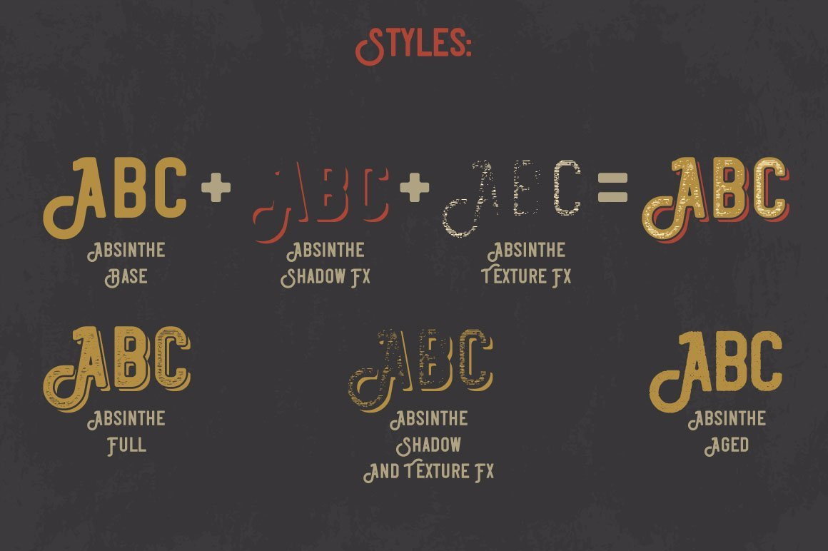 Special styles of Absinthe Font.