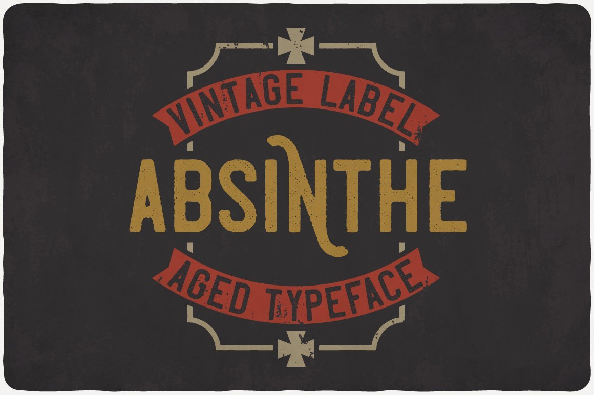 Bright and colorful color with vintage font..