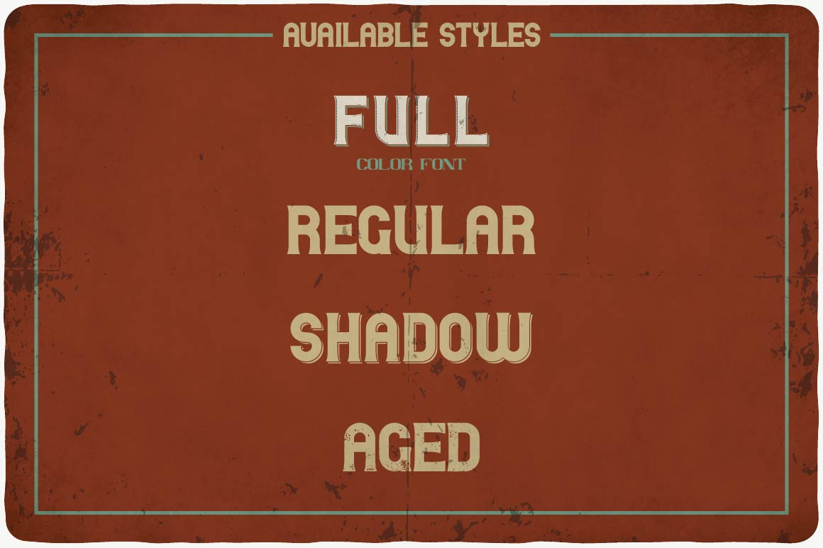 The brown background looks like a leather briefcase and features font styles.