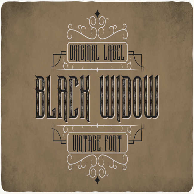 Black Widow Typeface main cover.