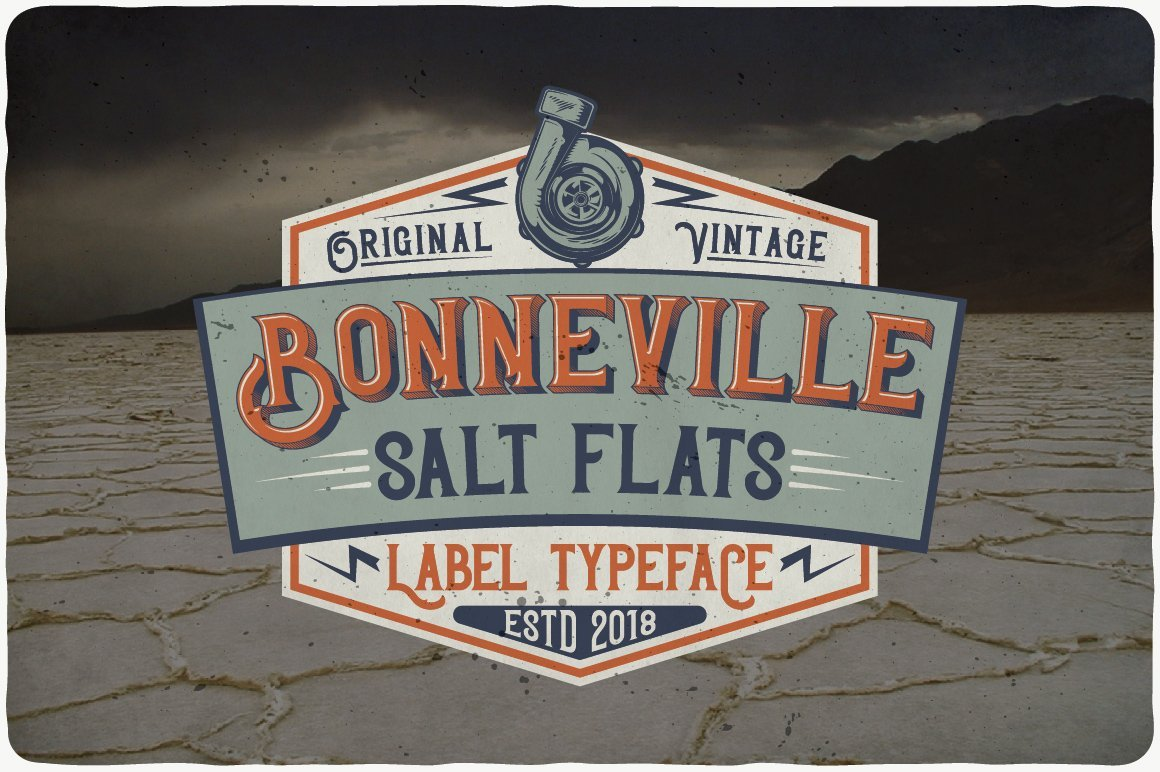 Stylish vintage typeface with relevant details.