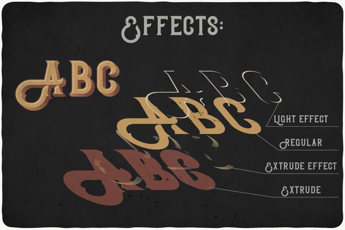 Bonneville Typeface effects.