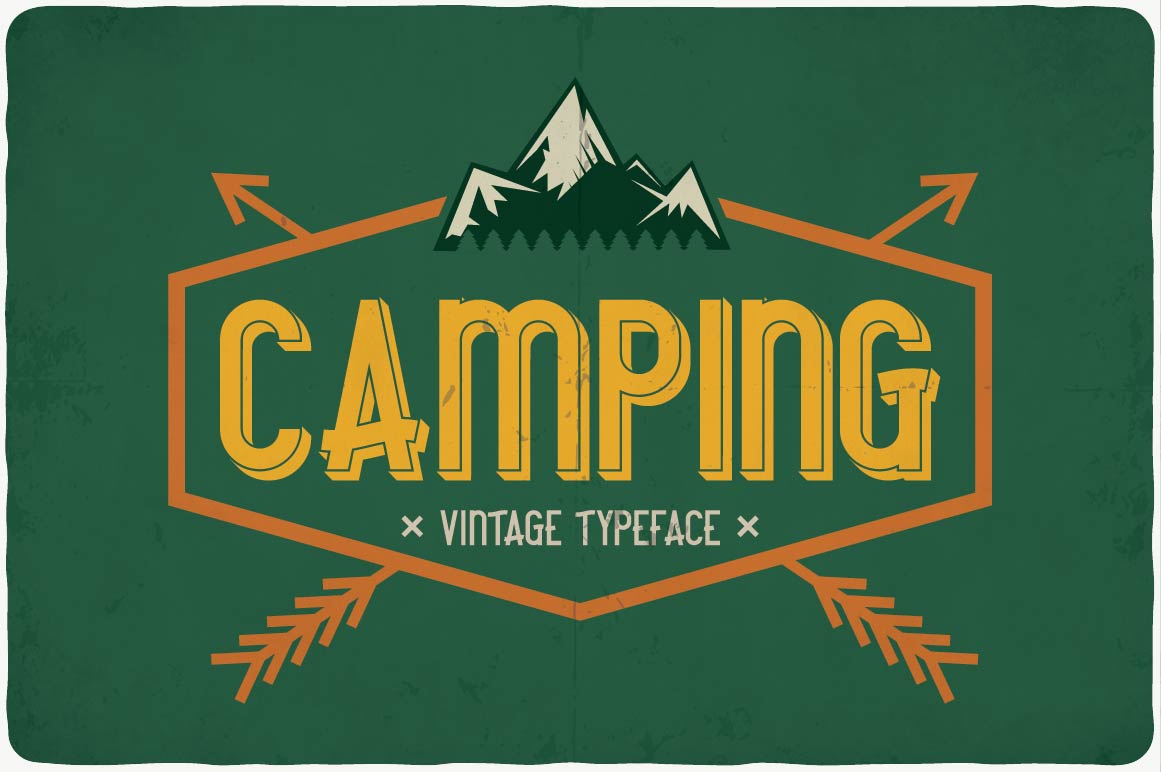 The green background emphasizes the theme of the camp.