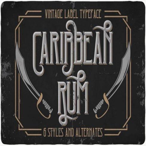 Caribbean font main cover.