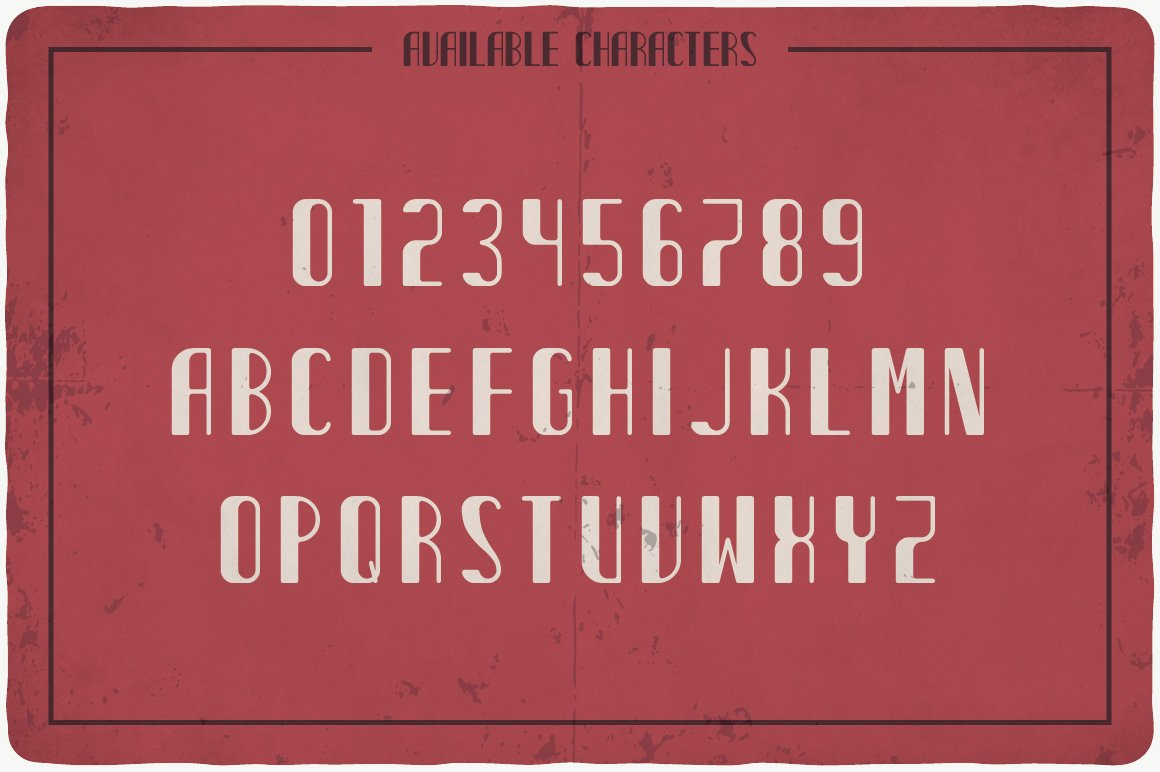 Available characters of Cider Typeface.