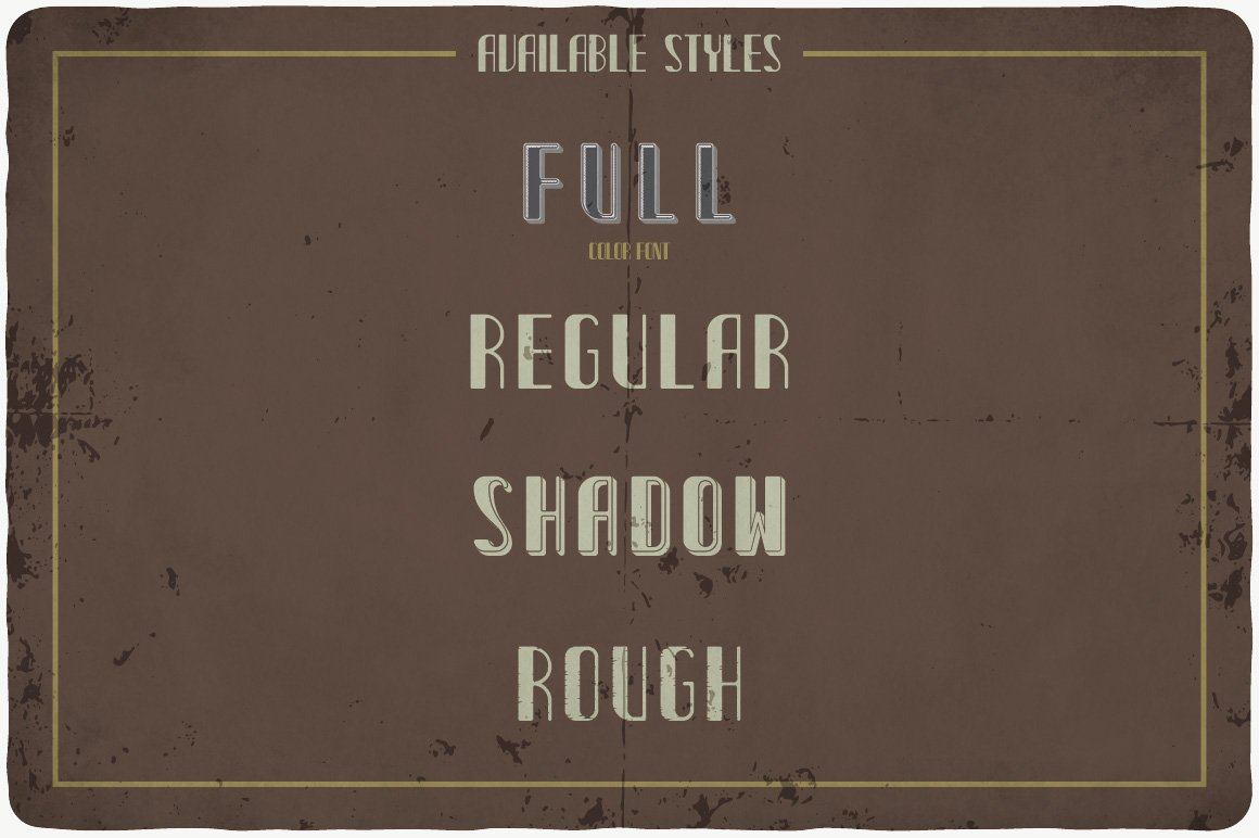 Available styles of Cider Typeface.
