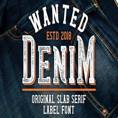 Wanted denim font main cover.