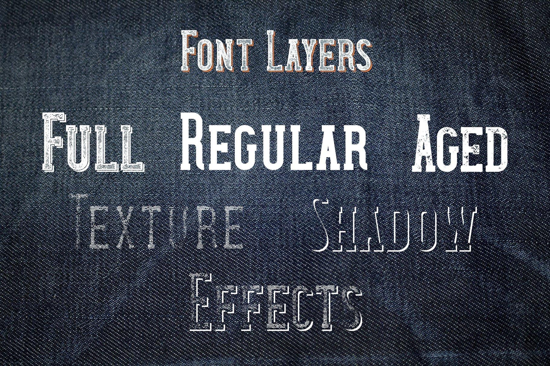 Denim font layers.